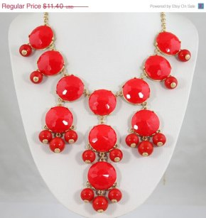 In Search of Red Bubble Necklace