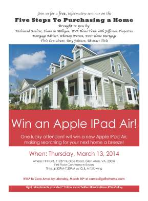 Join Me in March for an Informative Seminar! The Five Steps to Purchasing aHome