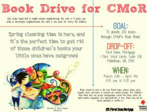 Book Drive at First Home Mortgage