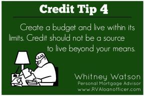 Credit Tip Series – Tip Number4