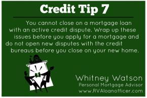 Credit Tip Series – Tip Number7