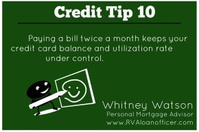 Credit Tip Series – Tip Number 10