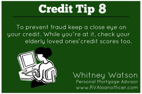 Credit Tip Series – Tip Number 8