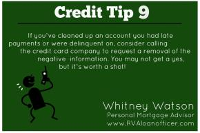 Credit Tip Series – Tip Number 9