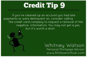 Credit Tip 9